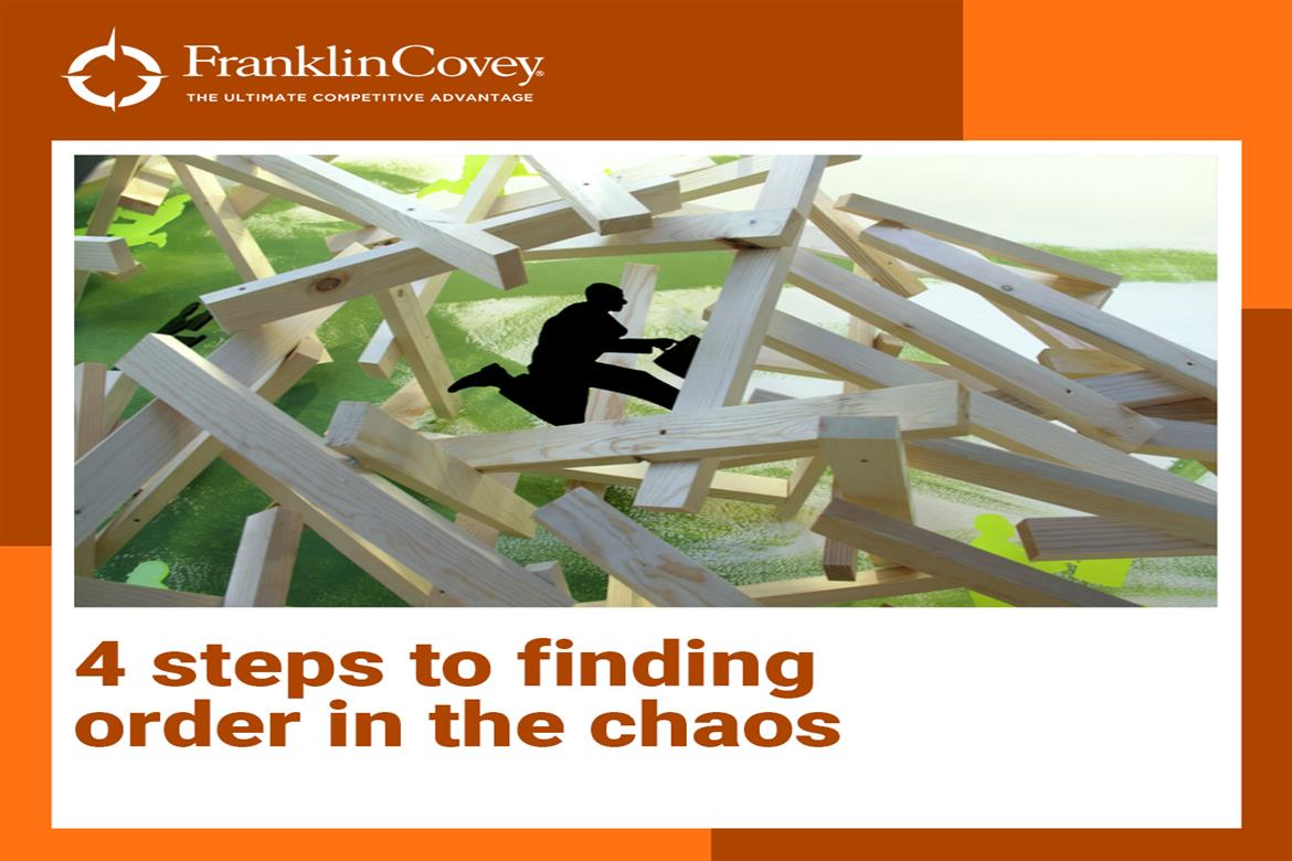 4 steps to finding order in the chaos